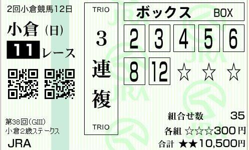 小倉2歳ステークス2018(G3)予想!馬券本命はファンジスト!穴はエイシンノホシ!