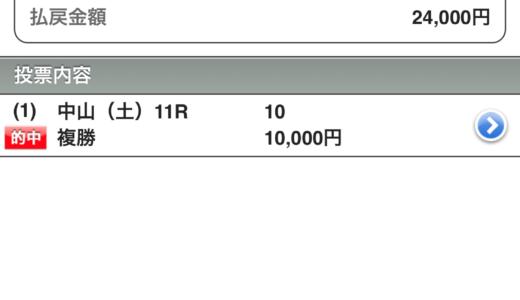 的中!フラワーC(G3)2019!複勝24,000円払い戻し!